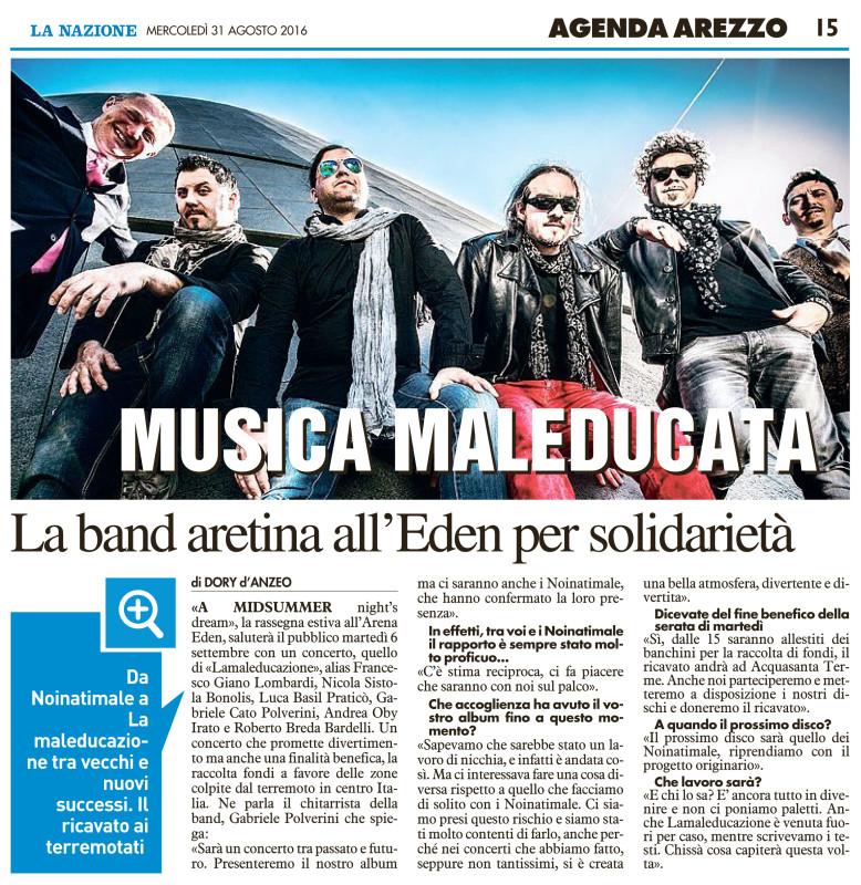 Musica Maleducata La Band Aretina Alleden Per Solidarietà